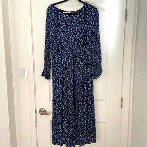 H&M floral drawstring dress, size 12